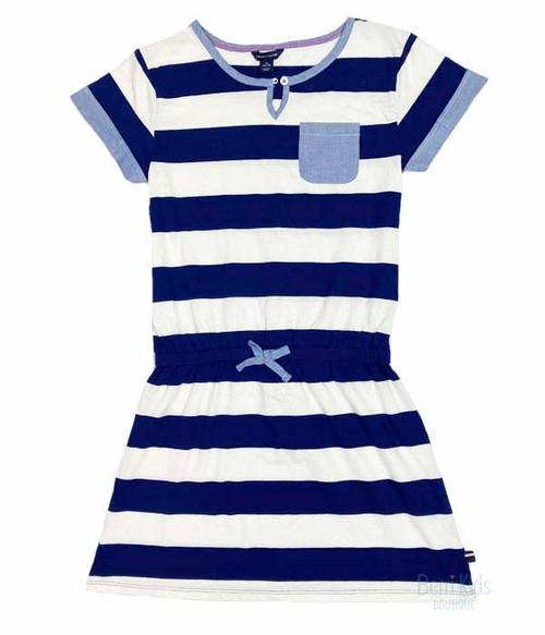 Chambray Trimmed Nautical Dress, Little Girls