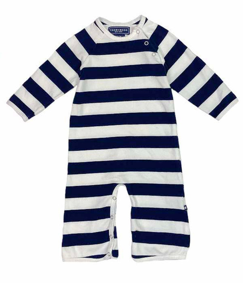 So Soft Navy Striped Jumpsuit, Baby Boys