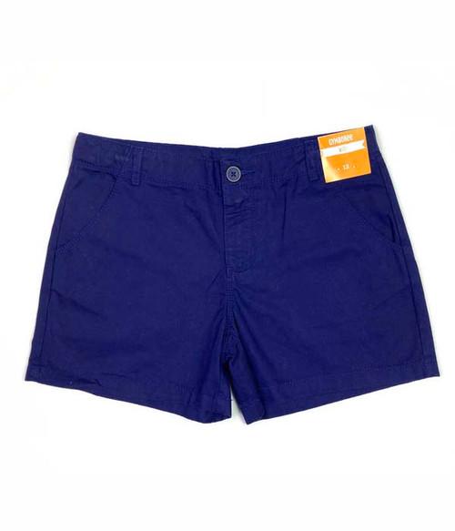 Navy Midi Shorts, Big Girls