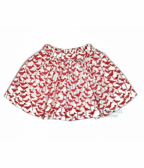 Red Bird Skirt, Toddler Girls
