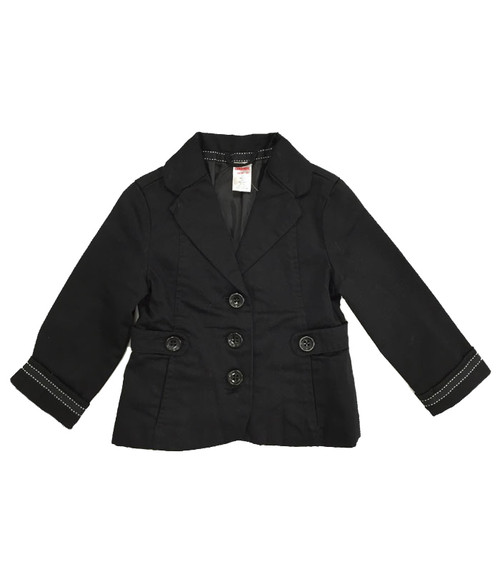 Black Button Blazer, Todder Girls