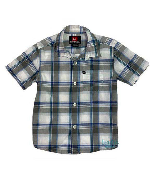 Blue & White Plaid Shirt, Toddler Boys