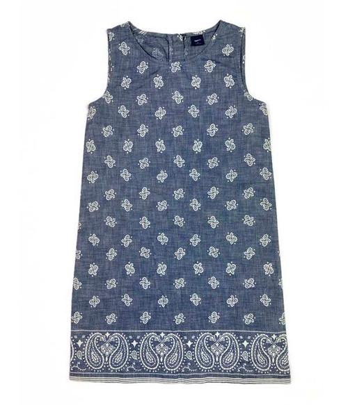 Paisley Chambray Dress, Big Girls