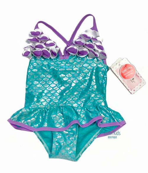 Metallic Mermaid Swimsuit, Toddler Girls