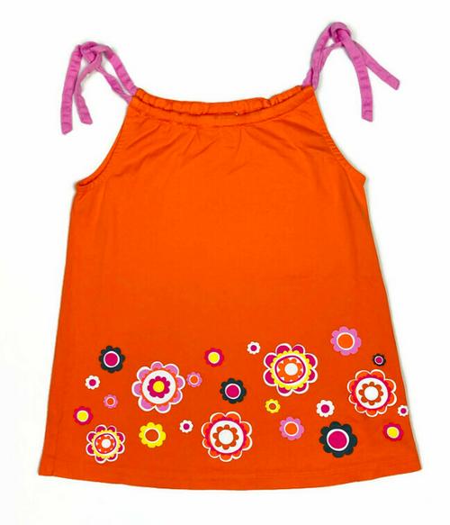 Orange Floral Pillowcase Dress, Toddler Girls