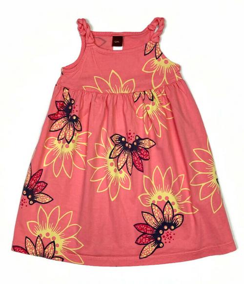 Peach Floral Dress, Toddler Girls