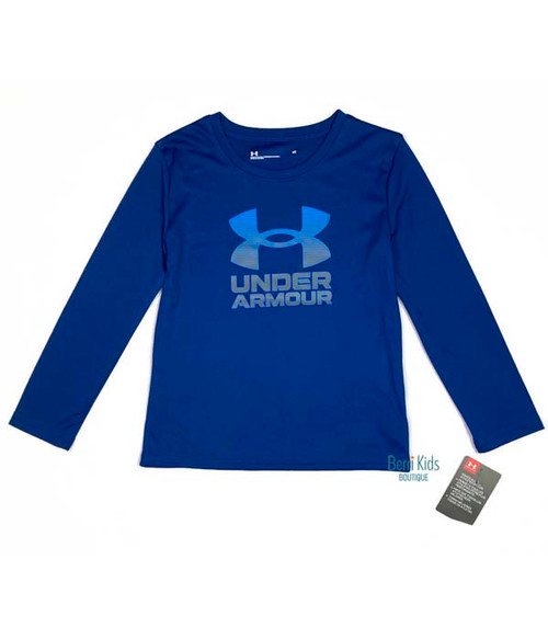 Graphite & Blue Long Sleeve Shirt, Toddler Boys