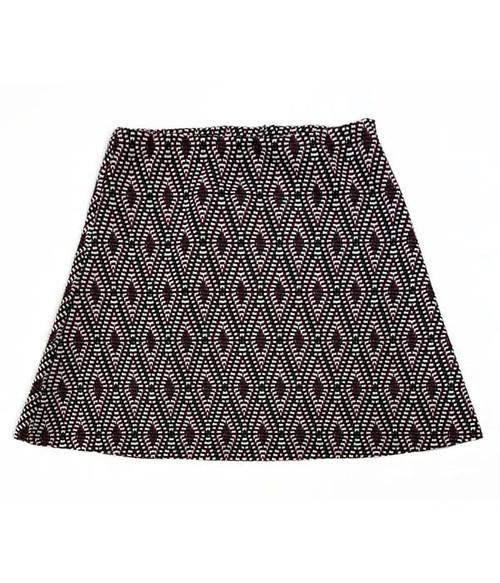 Maroon & Black Geo Skirt, Little Girls