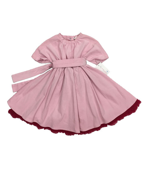 Pastel Pink Corduroy Dress, Baby Girl