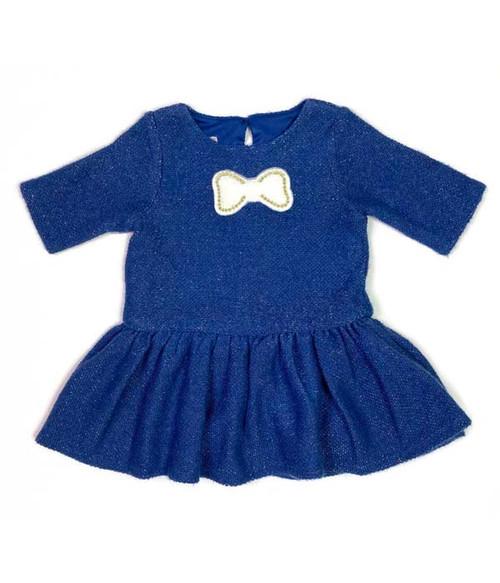 Sparkly Navy Blue Dress, Baby Girls