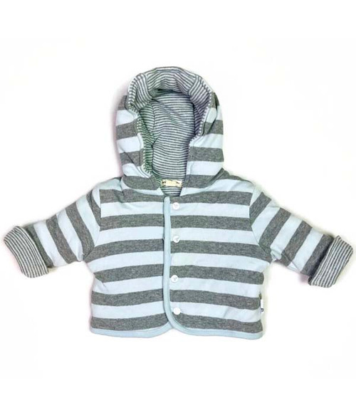 Organic Cotton Reversible Jacket, Baby Boys