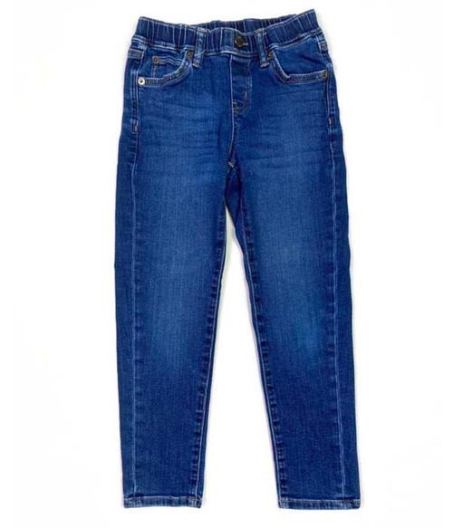 Stretch Pull-on Denim Jeans, Little Boys