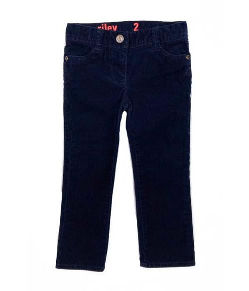 Navy Blue Corduroy Pants, Toddler Girls