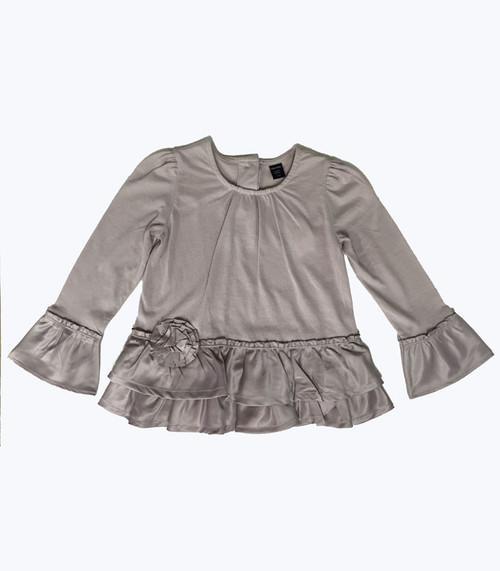 Mixed Fabric Top, Toddler Girl