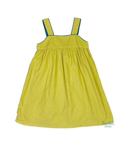 Soft Yellow Corduroy Jumper Dress, Little Girls
