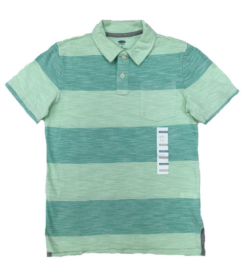 Big Striped Short Sleeve Polo, Big Boys