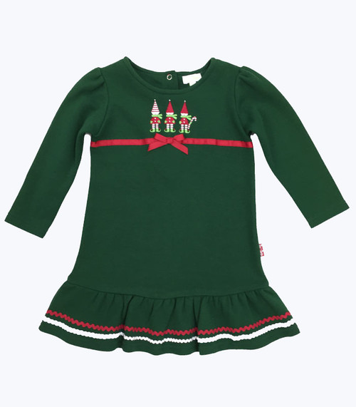 Forest Green Elves Dress, Toddler Girls