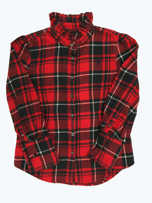 Red and Black Buffalo Plaid Shirt, Little Girls
