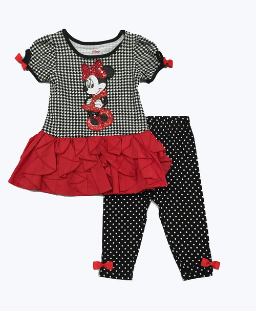 SOLD - Mini Mouse Dress and Leggings