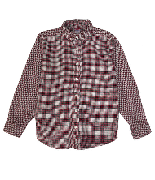 Red Checkered Button Down Shirt, Big Boys