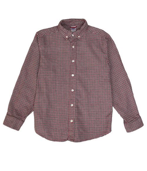 Red Check Button Down Shirt, Big Boys
