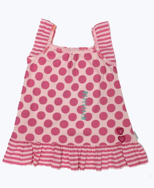 Pink Polka Dot Tunic, Big Girls