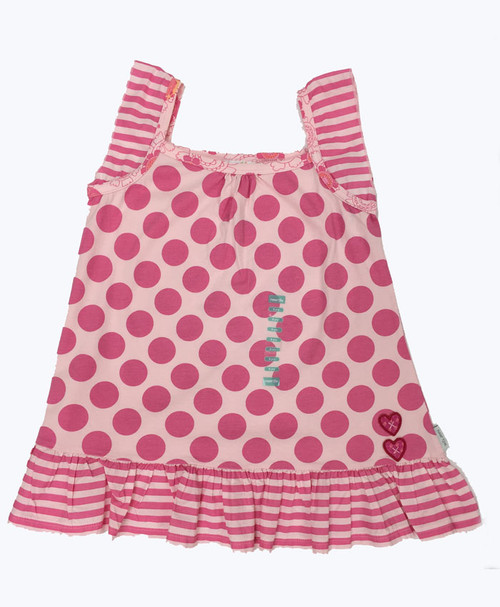 Pink Polka Dot Tunic, Big Girls