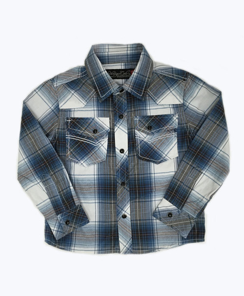 SOLD -Plaid Long Sleeve Button Down Shirt