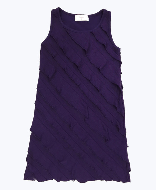 Purple Ruffle Dress, Toddler Girls