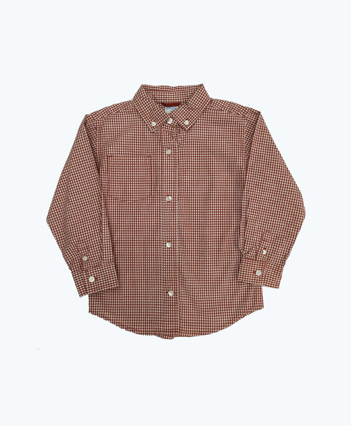 Red Checkered Button Down Shirt, Toddler Boys