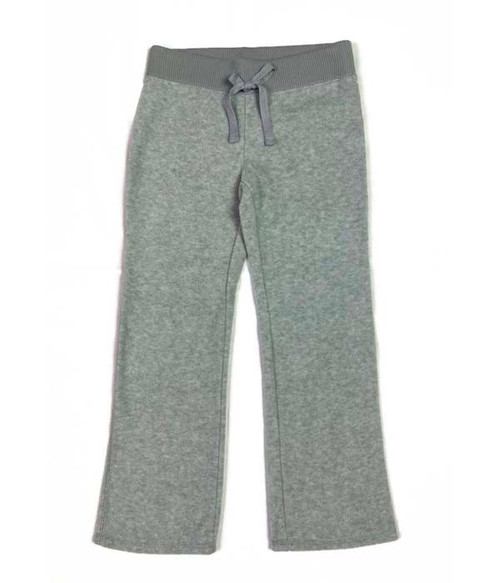 Gray Fleece Pants, Little Girls