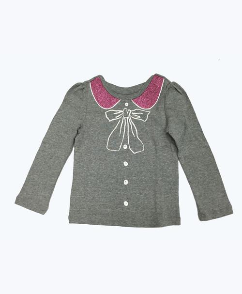 Gray Glitter Graphic Shirt, Toddler Girls