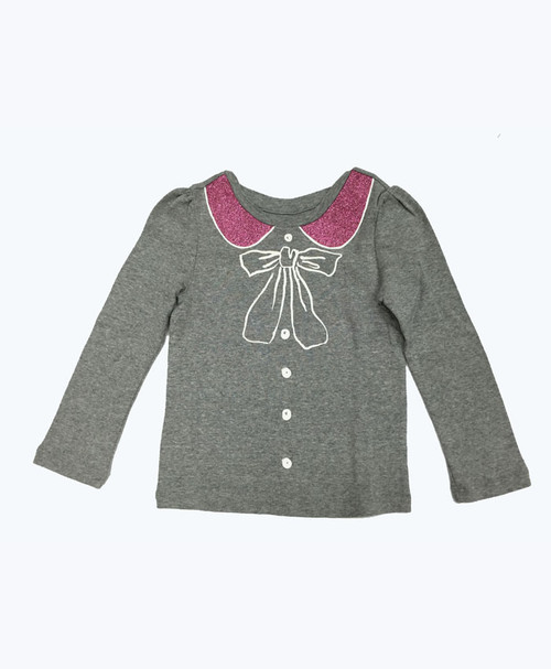 Gray Glitter Graphic Shirt, Toddler Girls