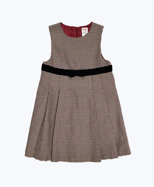Red Black Checkered Dress, Toddler Girls