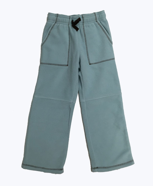Powder Blue Fleece Pants, Little Boys