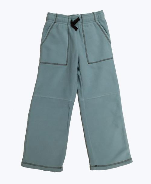 Powder Blue Fleece Pants, Little Boys
