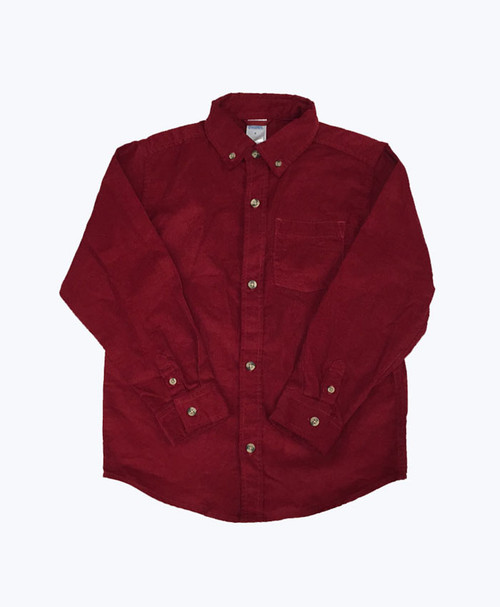 Corduroy Button Down Shirt, Little Boys