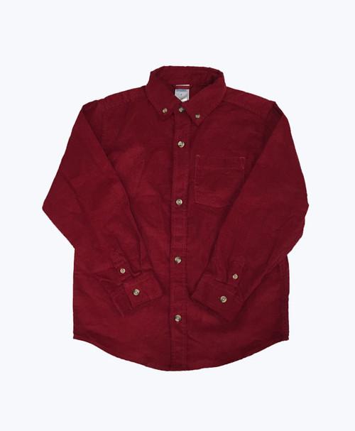Corduroy Button Down Shirt, Little Boys