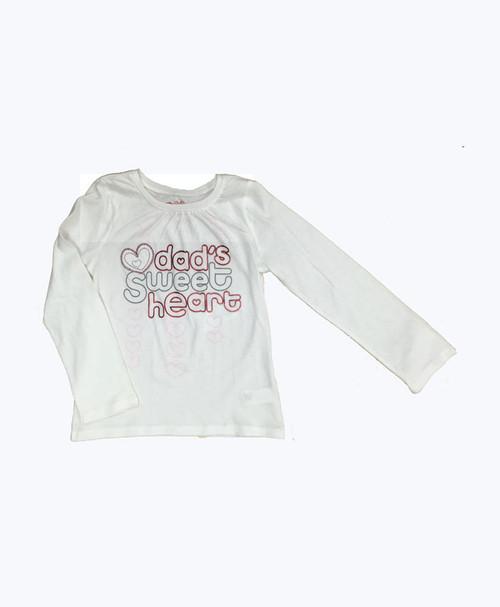 White Graphic Shirt, Toddler Girls