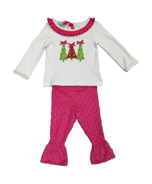 Christmas Trees Tunic & Leggings Set, Baby and Toddler Girls