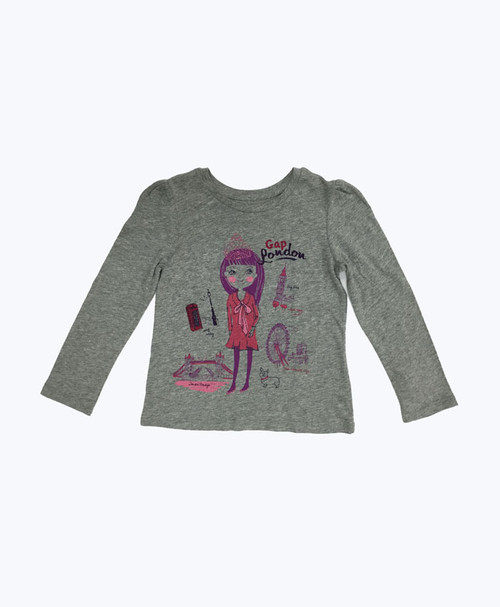 London Graphic Tee, Little Girls