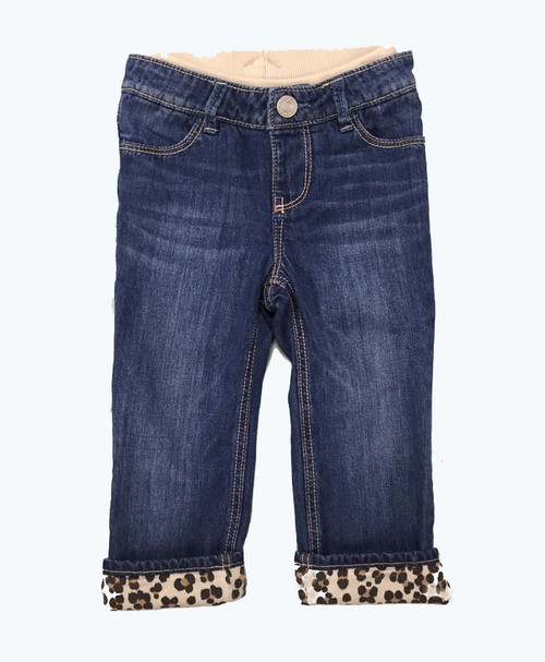 SOLD - Lined Pull-On Straight Jeans