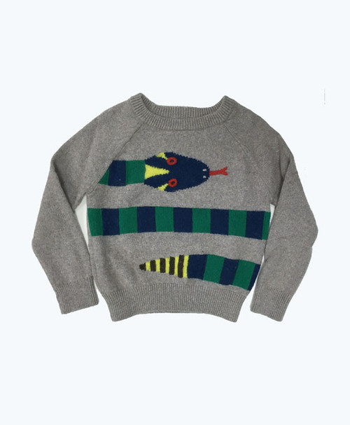 Snake Pattern Pullover Sweater