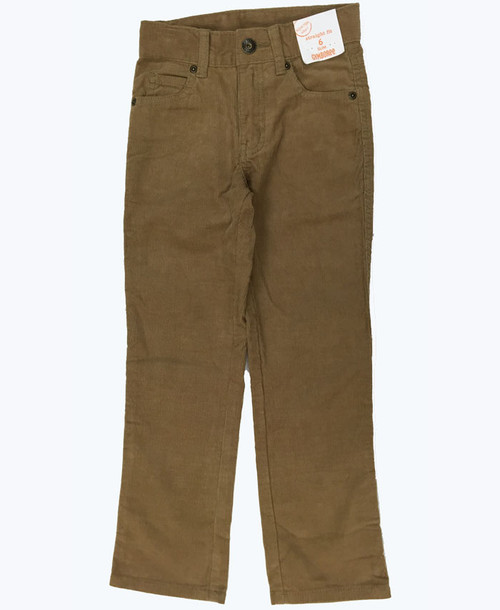 Straight Fit Slim Corduroy Pants, Little Boys