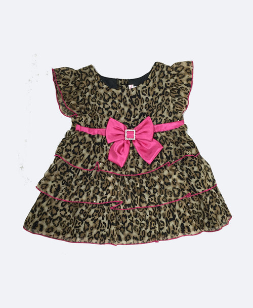 Animal-Print Bow Top, Toddler Girls