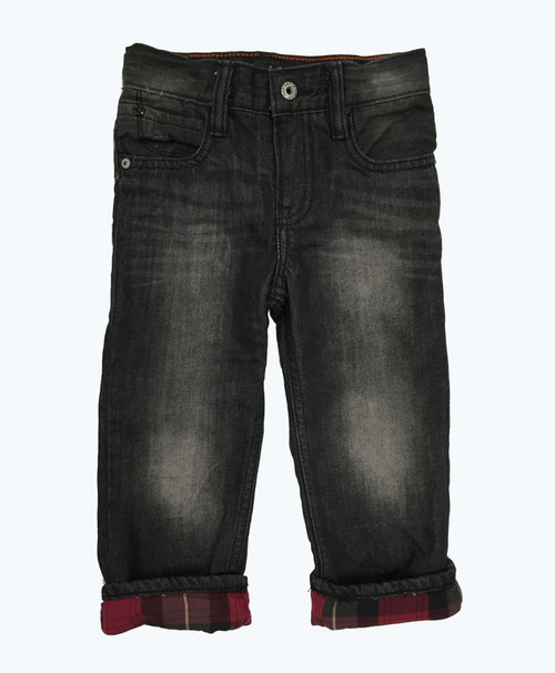 Plaid Lined Jeans, Toddler Boys
