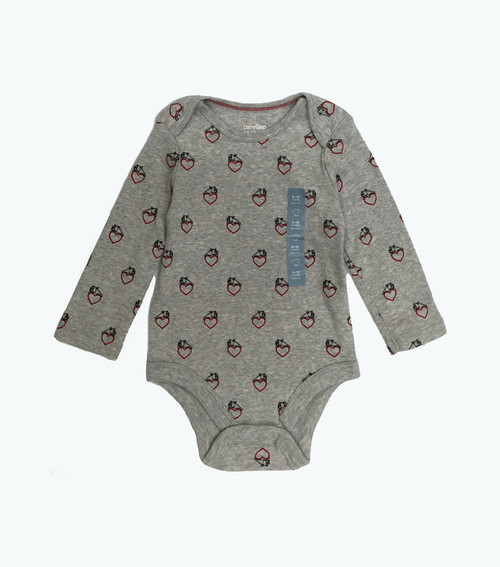 Bulldog & Heart Print Bodysuit, Baby Boy