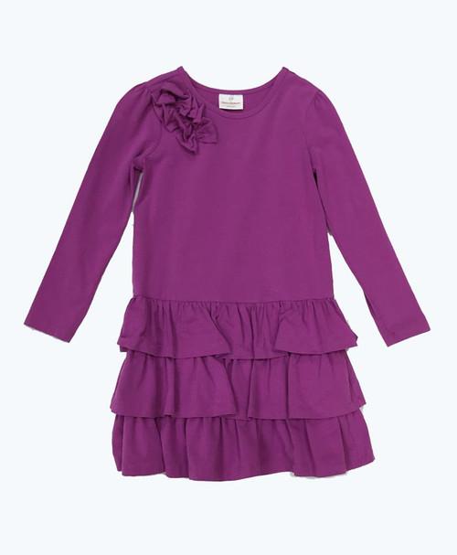 Light Purple Ruffle Dress, Little Girls