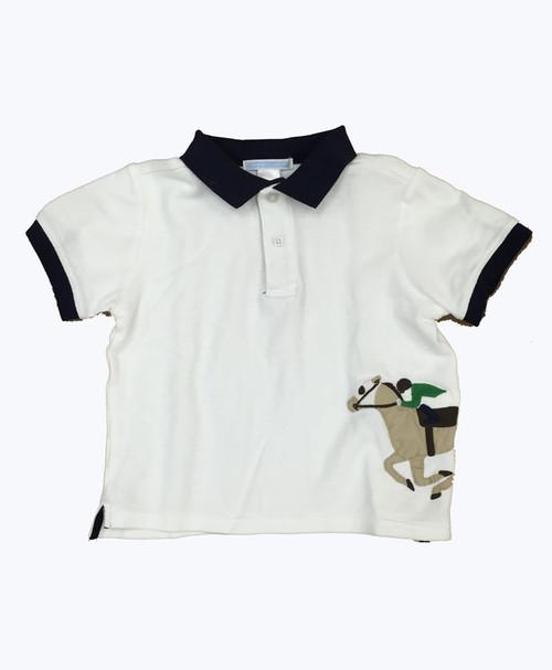 SOLD - Applique Pique Polo Shirt