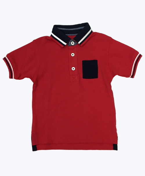 Red Pique Polo Shirt, Toddler Boys